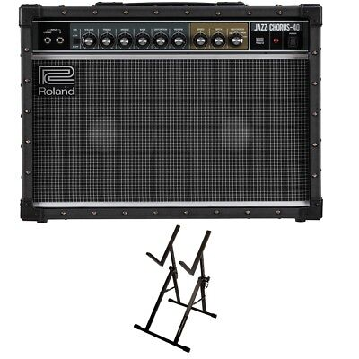 "Roland JC-40 Jazz Chorus 2x10"" Guitar Amplifier + Ultimate Support Amp Stand"