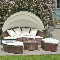 Rattan Outdoor Garden Patio Day Bed Furniture Lounger Sofa ...