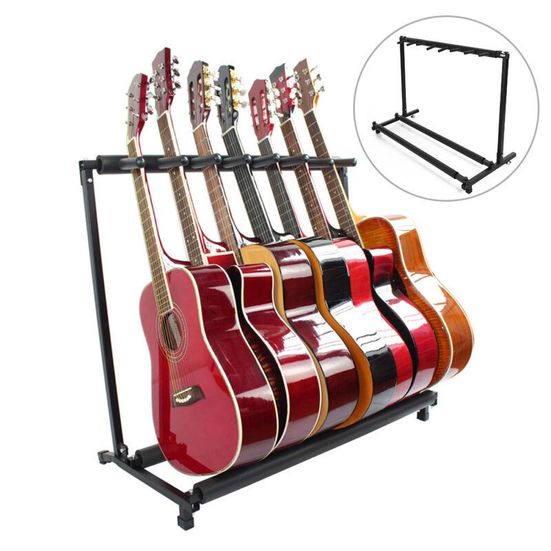 New 7-Fach Gitarrenständer Mehrfachständer Electric Gitarrenständer Rockstand WL