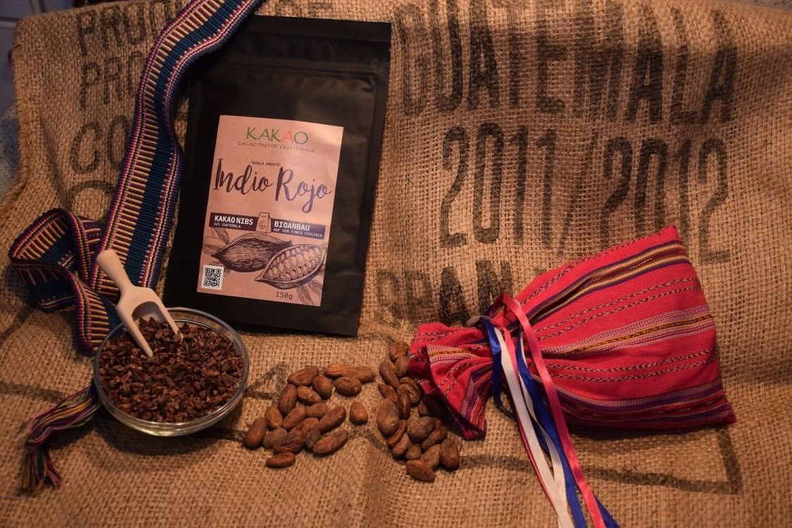 """Criollo Kakao Nibs geröstet """"Indio Rojo"""" Guatemala Ernte 2018 Bioanbau 450gr"""