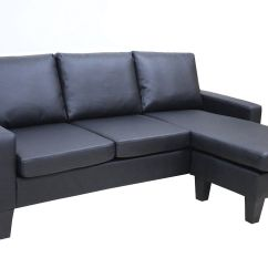 Modern Chaise Lounge Chairs Living Room Chair Covers Rentals Black Leather Sectional Sofa W Reversible