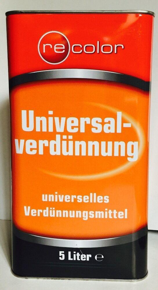 (2,12-2,00€/L)  Universalverdünnung 5 Liter Verdünnung Verdünner Pinselreiniger