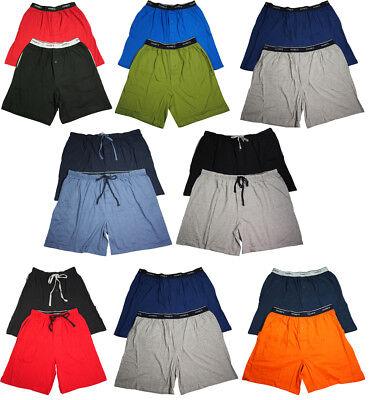 Hanes Mens 100% Cotton Jersey Lounge Pajama Sleep Short - Sizes S - 2XL