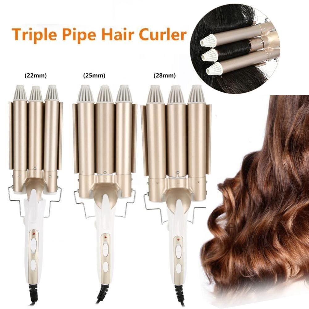 Pro Digital Lockenstab Curling Iron Curler Hair Styler Elektrisch Welleneisen DE