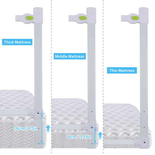 """71""""/79"""" Foldable Toddler Bed Rail Baby Crib Side Safety Guard Kid Infant Bedrail 8"""