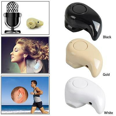Mini Bluetooth 4.0 In Ear Musik Kopfhörer Wireless Ohrhörer Headset für Handy DE