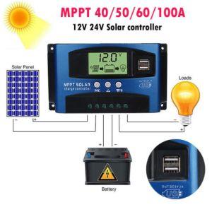 30-100A MPPT Solar Panel Regulator Charge Controller 12V/24V Auto Focus Tracking