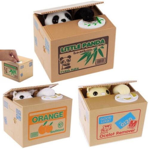 Elektronisch Sparbüchse Spardose Kinderspiezeug, Panda&Katze stiehlt Münze! süß