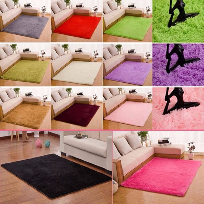 shaggy fluffy rugs anti-skid area rug dining room carpet bedroom