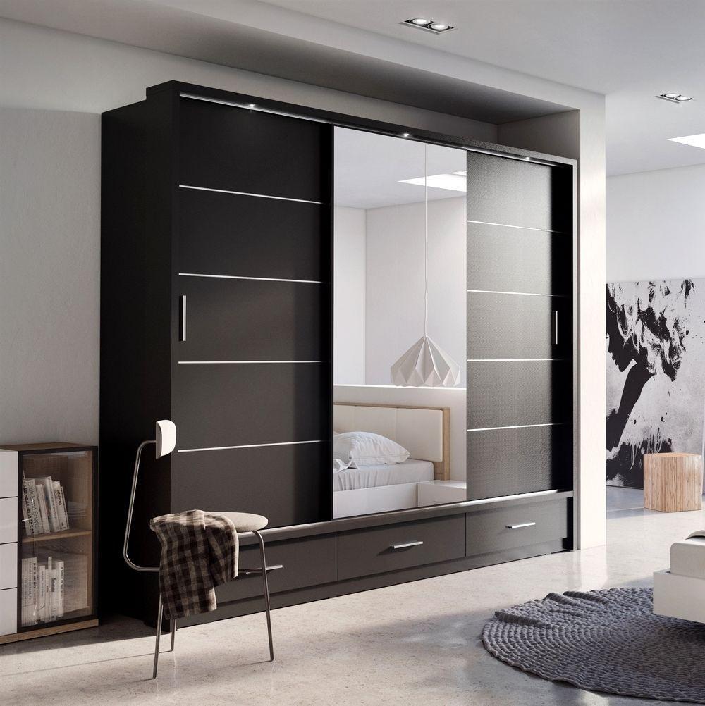 Modern Wardrobe Design With Mirror