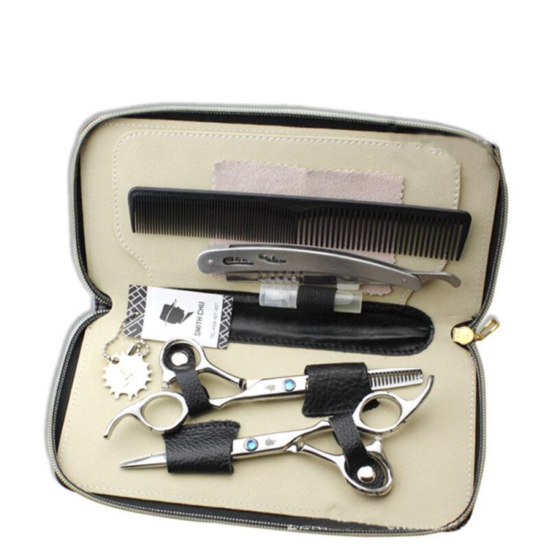 6x Profi Haarschneideschere Set Haarschere Friseurschere Effilierschere Schere