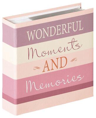 Wonderful Moments Fotoalbum für 200 Fotos in 10x15 cm Einsteck Album Memoalbum