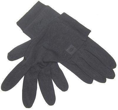 Seide Unterziehhandschuhe  schwarz dünn Handschuhe zum Unterziehen gegen Färben