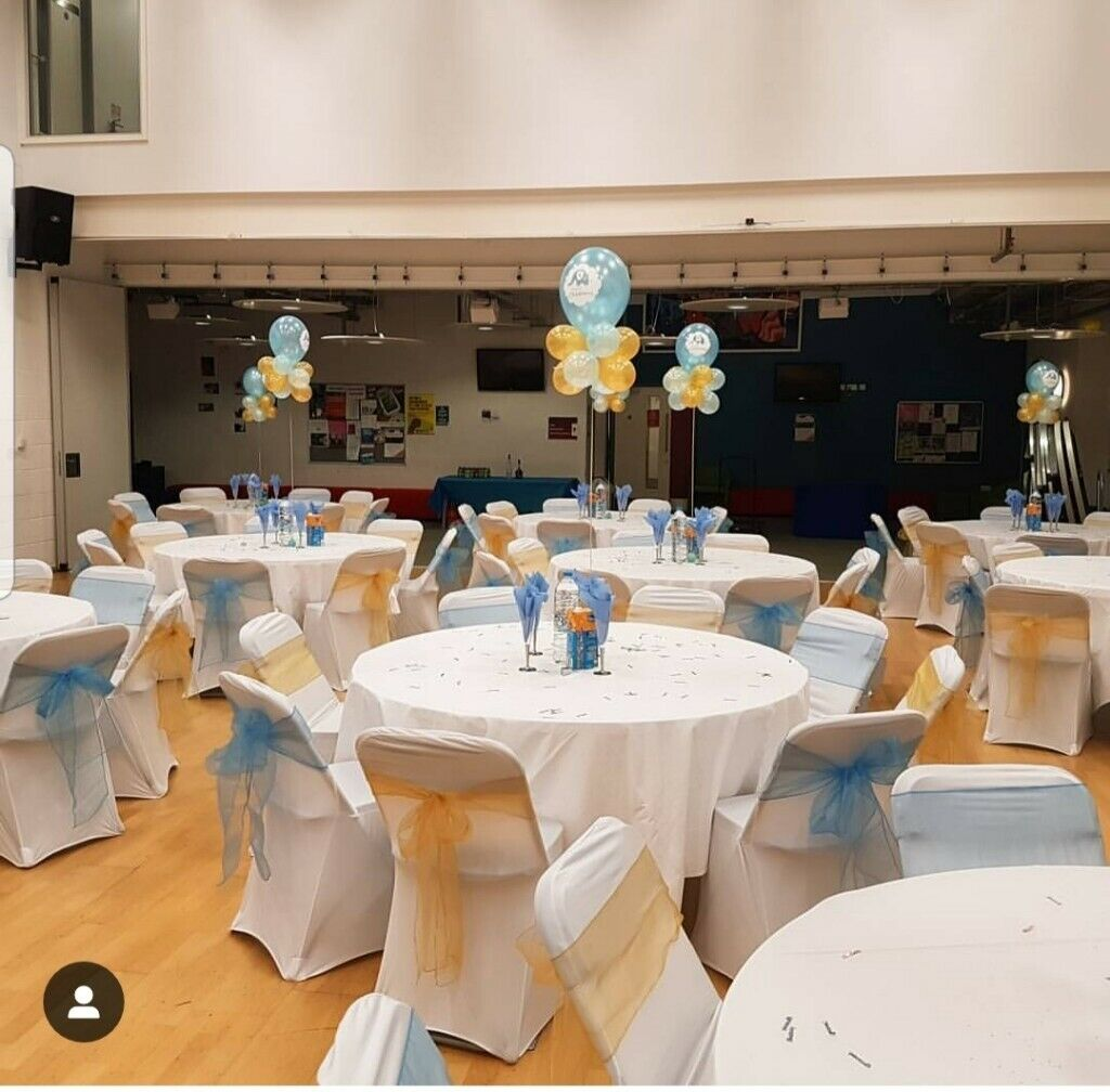chair covers decorations steel new model cover backdrops table cloths cutlery crockery hire balloon in wembley london gumtree
