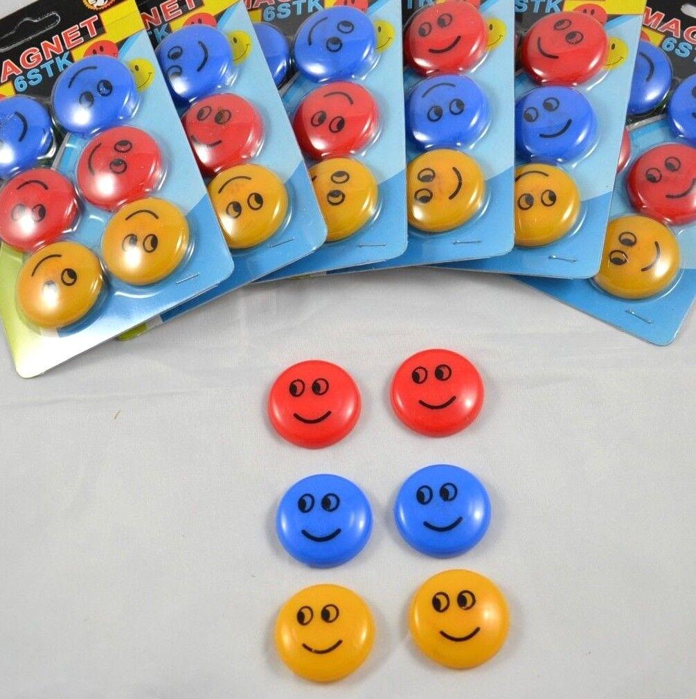 6 bis 30 Magnete Haftmagnet Magnettafel Buntmagnete Whiteboard Tafel Smiley bunt