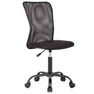 black computer chair graco rocking mesh ebay new office middle back task swivel seat ergonomic 1265