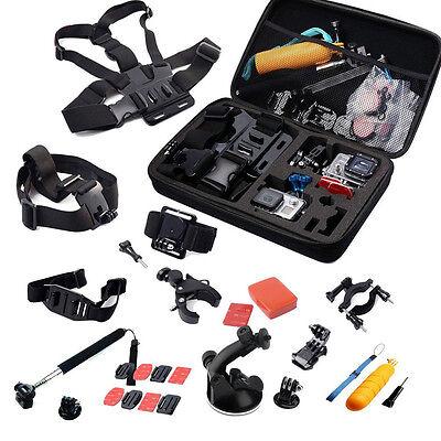 Kamera Zubehör Set 30 in 1 für GoPro Hero 4 3+ 3 2 1 Outdoor Action Kamera SN