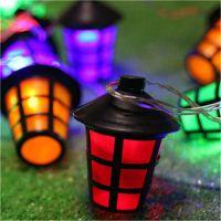 20 LED Coloured Party Lantern Garden Xmas Lights Festive ...