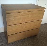 Ikea MALM chest of 3 drawers. Oak veneer. Very good ...