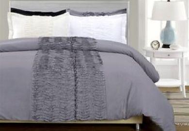 Gray Ruffle Bedding Ebay