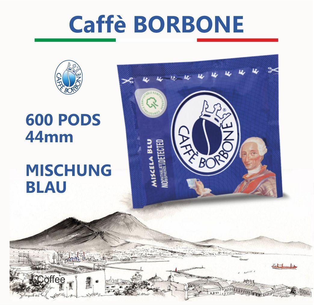 CAFFE BORBONE MISCHUNG BLAU 600 CIALDE ESPRESSOPADS E.S.E  KAFFEEPADS ITALIEN