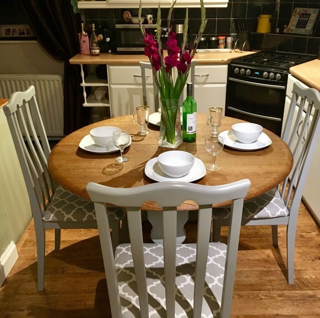 Refurbished Chairs Farmhouse Country Style Dining Table Chairs Refurbished In Farrow Ball Paint In Newcastle Tyne And Wear Gumtree