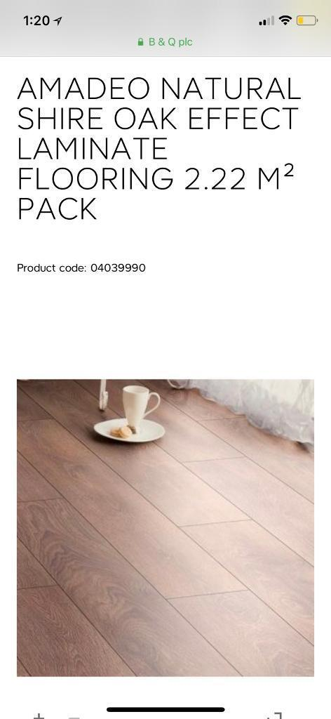 Amadeo Shire Oak Laminate Flooring 11m2 In Berkeley Ostend Natural Oxford Effect 1 76 M² Pack