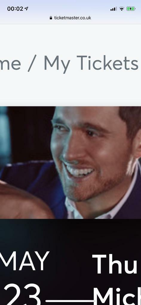 michael buble tickets x2