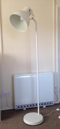 Ikea Hektar Floor Lamp (White)