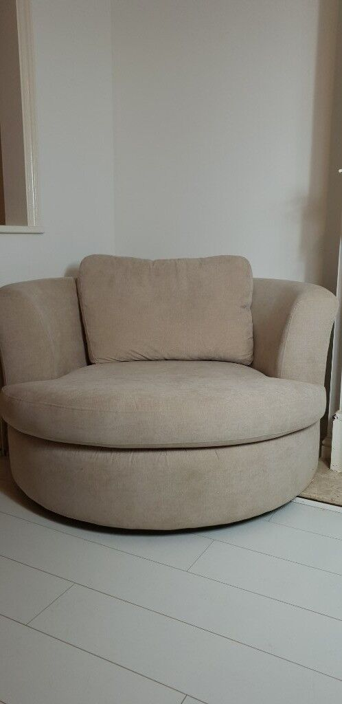 swivel chair uk gumtree gold covers for cheap cuddle cream fabric large in south croydon