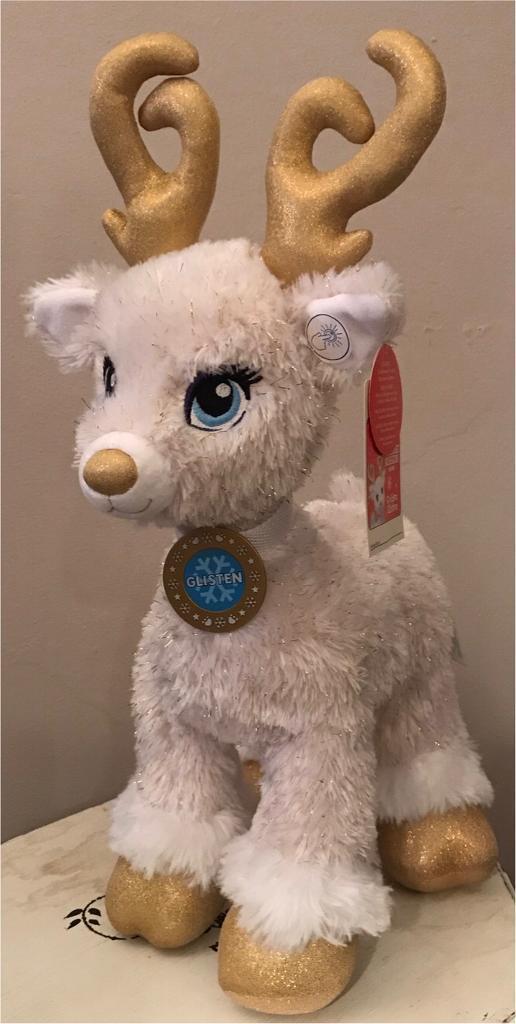 christmas dining chair covers uk kitchener waterloo build a bear golden glisten reindeer | in exeter, devon gumtree