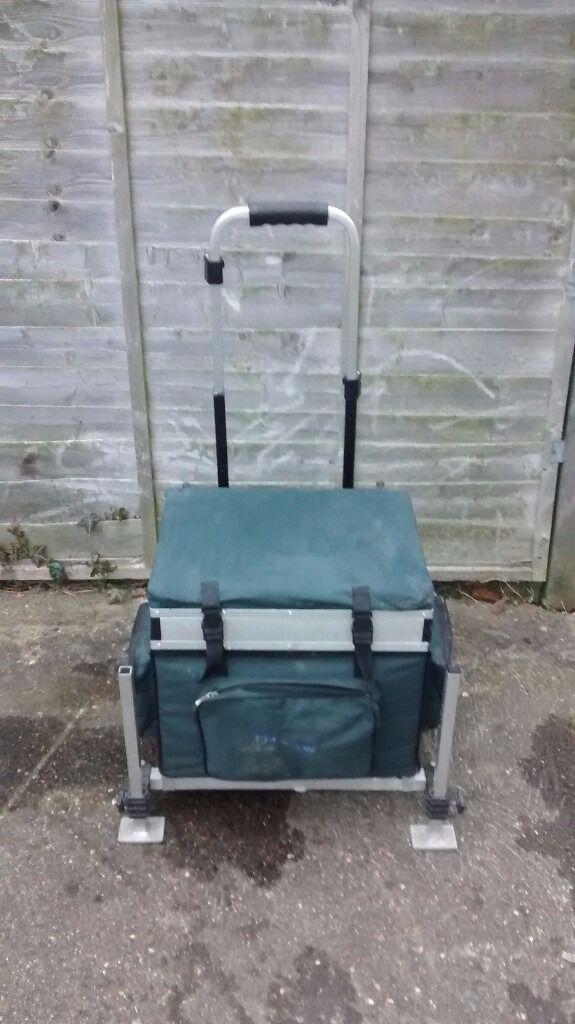fishing chair hand wheel wedding decor bison box trolley seat in eynesbury cambridgeshire gumtree