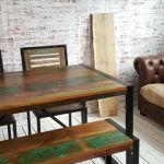 Reclaimed Industrial Dining Table Bench And Chairs Rustic Boat Wood In Wimbledon London Gumtree