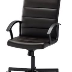 Swivel Chair Uk Gumtree Teak Outdoor Ikea Black Office Faux Leather In Larkhall South