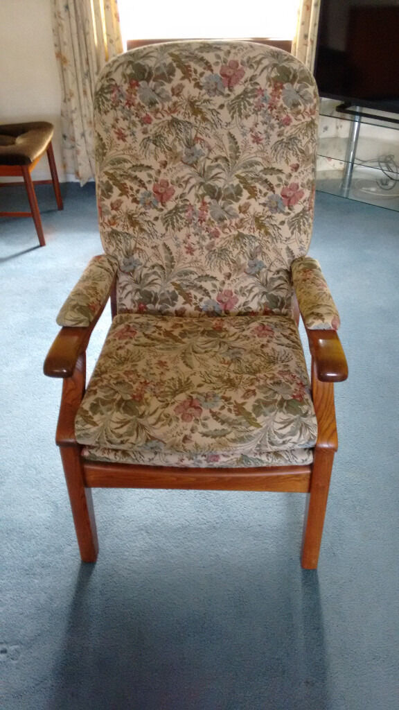 high backed chairs for the elderly potty chair big toddler orthopaedic back suitable in kilmacolm