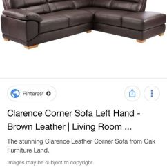 Sofas For Less Uk Build A Sofa Oak Furniture Land Brown Leather Corner Than 12 Months Old