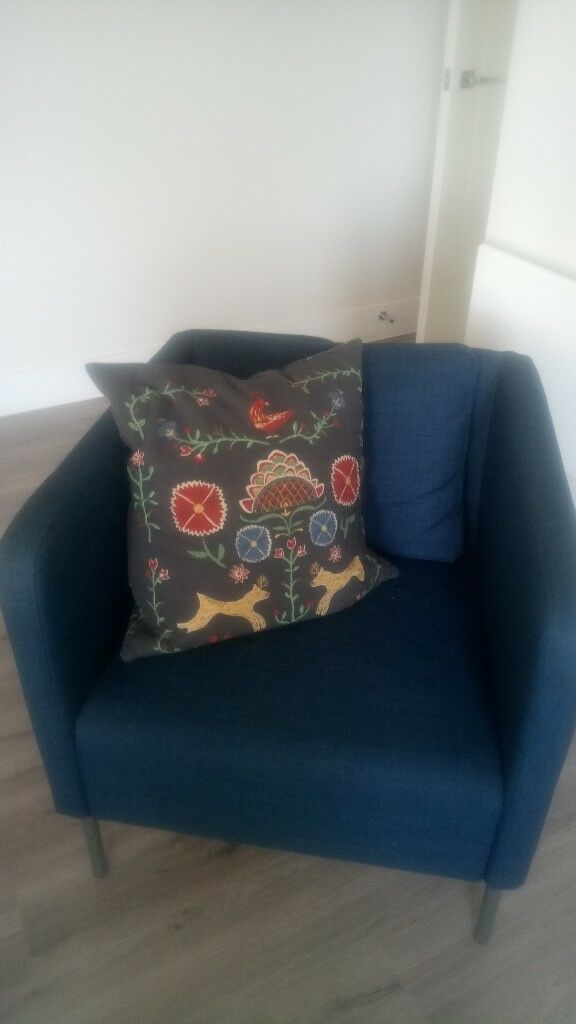 bedroom chair gumtree ferndown canopy kmart ikea contemporary arm petrol blue in dorset