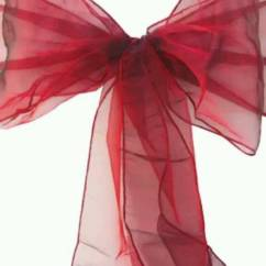 Dark Red Chair Sashes Covers For Sale Philippines Burgundy Chiffon Organza Wedding Sash Bows X60 In