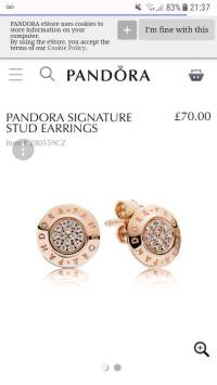 **BRAND NEW** PANDORA ROSE GOLD EARRINGS | in Cheadle ...