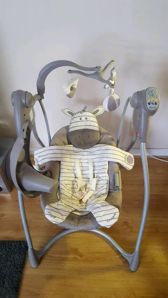 graco swing chair zebra modern grey dining chairs uk bruin ziggy loving hug and vibrating seat bouncer