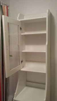 IKEA Flaren country style white wood and glass free