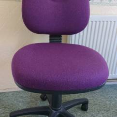 Revolving Chair Gumtree Behind The Promo Codes Purple Office Desk Adjustable In Poole Dorset