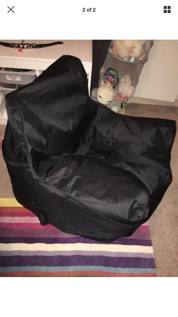 bean bag gaming chair argos beach chairs for kids teenager large black beanbag bargain rrp 50 immaculate