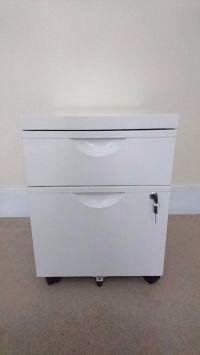 Ikea ERIK Unit With 2 Drawers on Castors in White | Small ...