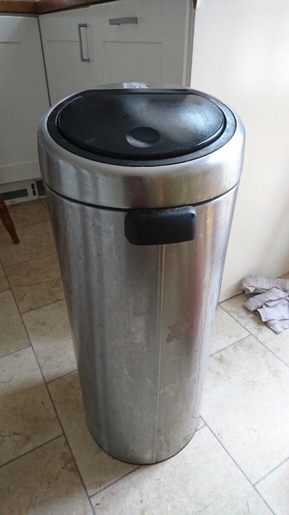 tall kitchen bin country island brabantia 30l brushed steel finish in ipswich