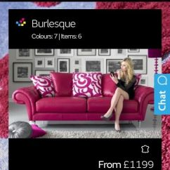 Burlesque Pink Sofa Ashley Furniture Overly Reclining Couch By Sofology In Renfrew Renfrewshire Gumtree