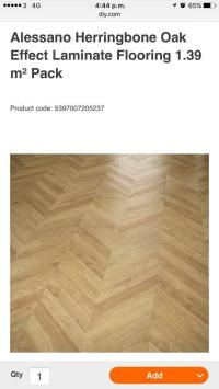 12 new packs of alessano herringbone oak effect laminate ...