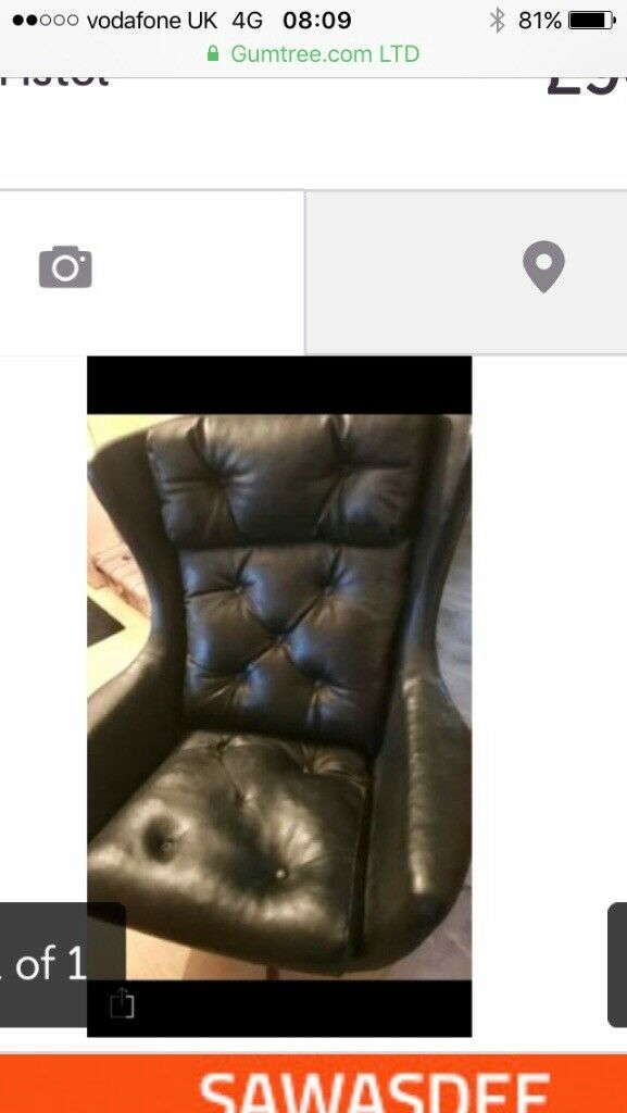 swivel chair uk gumtree crate and barrel lounge retro leather vintage in filton bristol