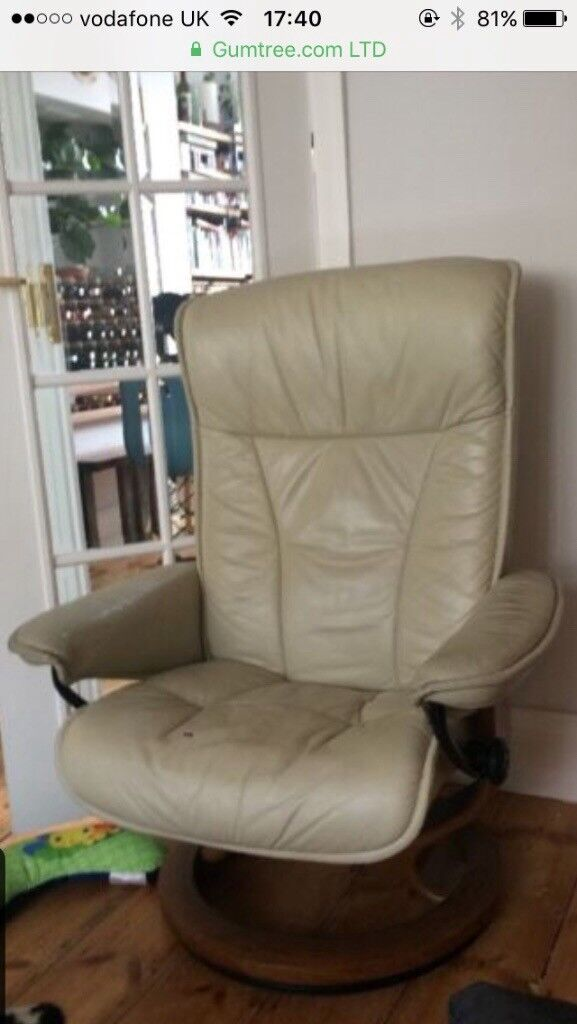 swivel chair uk gumtree western style leather chairs ekornes stressless reclining in filton