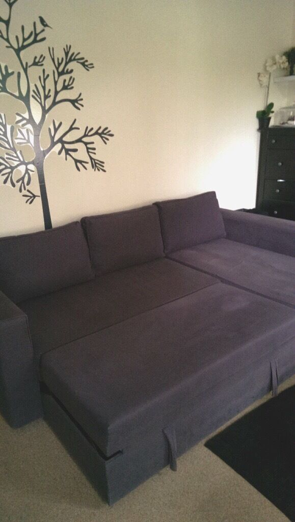 corner sofa bed east london protector for cats ikea manstad with storage mattress topper in north